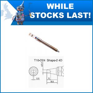 T10-D24 2.4mm Straight Chisel Soldering Iron Tip