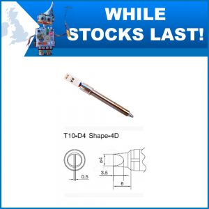 T10-D4 4mm Straight Chisel Soldering Iron Tip
