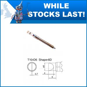 T10-D6 6mm Straight Chisel Soldering Iron Tip