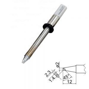 T20-BCM2 Bevel with Indent Soldering Tip 2mm /45° x 12mm