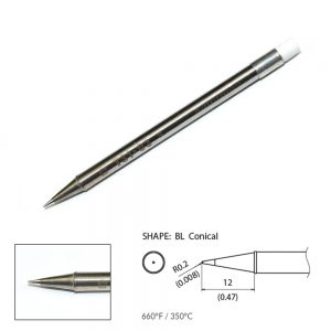 T31-03BL Conical Soldering Tip R0.2 x 12mm 350°C