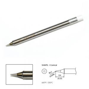 T31-03I Conical Soldering Tip R0.2 x 8.4mm 350°C