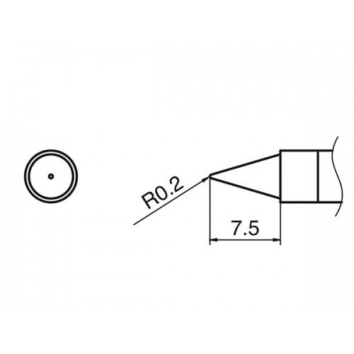 T36-B Conical Shape Soldering Tip
